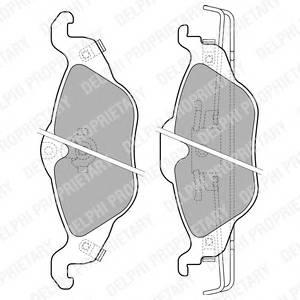 Гальмівні колодки, дискові PAGID арт. LP1673