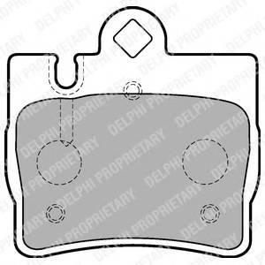 Гальмівні колодки, дискові PAGID арт. LP1697