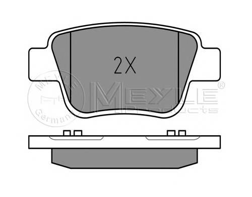 Тормозные колодки Тормозные колодки дисковые MEYLE арт. 0252362016W