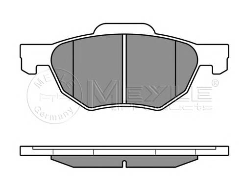 Тормозные колодки Тормозные колодки дисковые Honda ACCORD VIII PAGID арт. 0252372017W