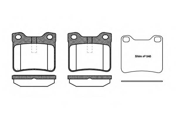 Тормозная система Гальмiвнi колодки, к-кт. PAGID арт. 232110