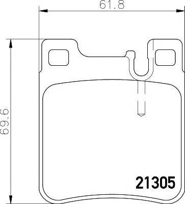 Тормозные колодки 21305/16,0мм Тормозные колодки PAGID PAGID арт. T1050