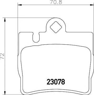 Тормозные колодки 23078/15,9мм Тормозные колодки PAGID PAGID арт. T1175