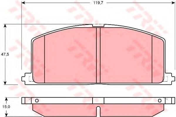 Тормозные колодки Тормозные колодки дисковые PAGID арт. GDB3184