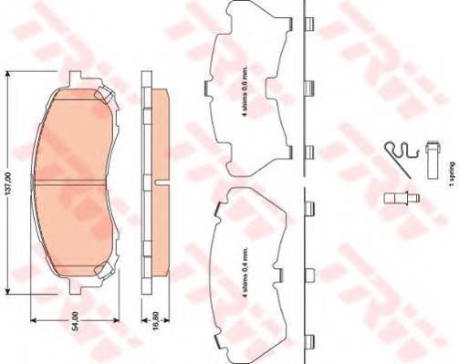 Тормозные колодки Тормозные колодки дисковые ABE арт. GDB3469