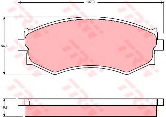 Тормозные колодки Тормозные колодки дисковые PAGID арт. GDB765