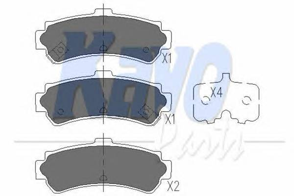 Тормозные колодки Тормозные колодки дисковые KAVOPARTS арт. KBP6550
