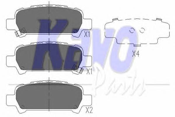 Тормозные колодки Тормозные колодки дисковые KAVOPARTS арт. KBP8002