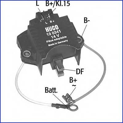 реле регулятор генератора 14v электронное. pr HUCO 130341