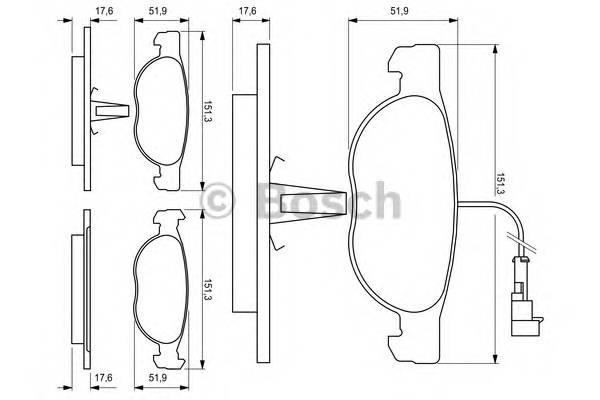 Колодки тормозные передние BRAVO,BRAVA 1.4-1.6 95- PAGID арт. 0986424246