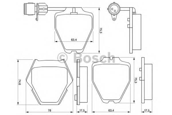 Тормозные колодки Тормозные колодки Bosch PAGID арт. 0986424689
