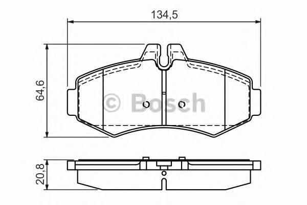 Тормозные колодки Тормозные колодки Bosch PAGID арт. 0986494013