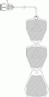 Тормозные колодки Тормозные колодки Ferodo PAGID арт. FDB985