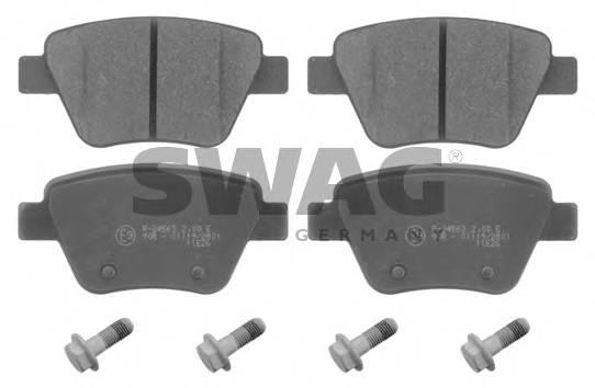 Тормозные колодки Тормозные колодки дисковые SWAG арт. 30916797