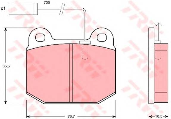 Тормозные колодки Тормозные колодки дисковые PAGID арт. GDB1253