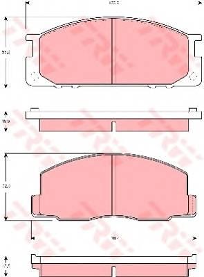 Тормозные колодки Тормозные колодки дисковые PAGID арт. GDB3130