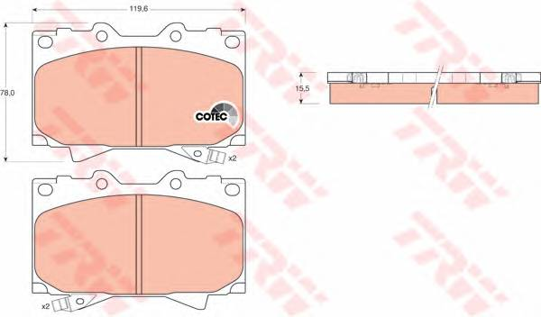 Тормозные колодки Тормозные колодки дисковые PAGID арт. GDB3197