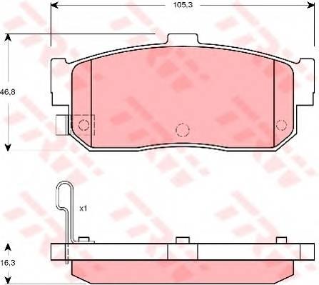 Тормозные колодки Тормозные колодки дисковые PAGID арт. GDB3274