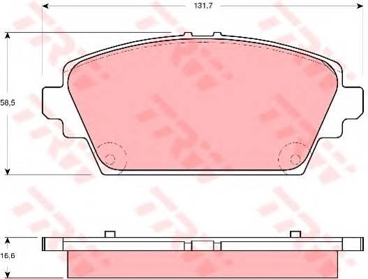 Тормозные колодки Тормозные колодки дисковые PAGID арт. GDB3291