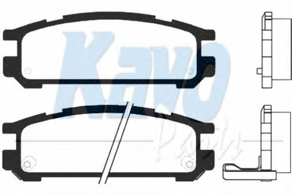 Тормозные колодки Тормозные колодки дисковые PAGID арт. BP8012