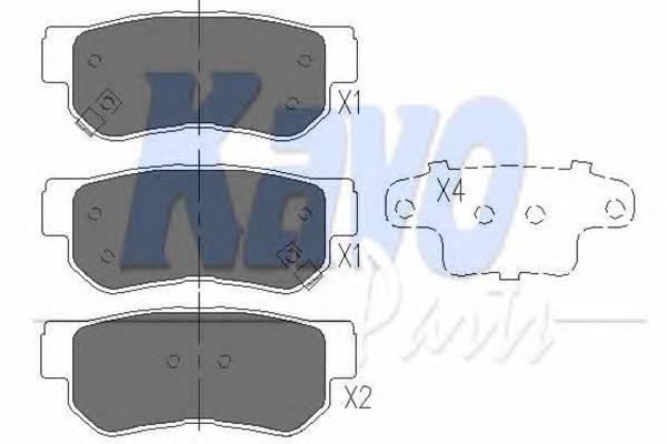 Тормозные колодки Тормозные колодки дисковые KAVOPARTS арт. KBP3005