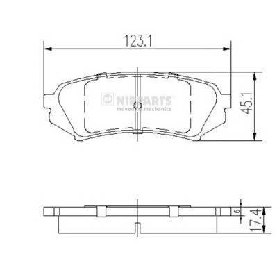 Тормозная система Гальмiвнi колодки, к-кт. PAGID арт. J3612022