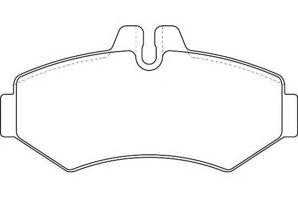 Тормозные колодки Тормозные колодки дисковые PAGID арт. WBP23021A
