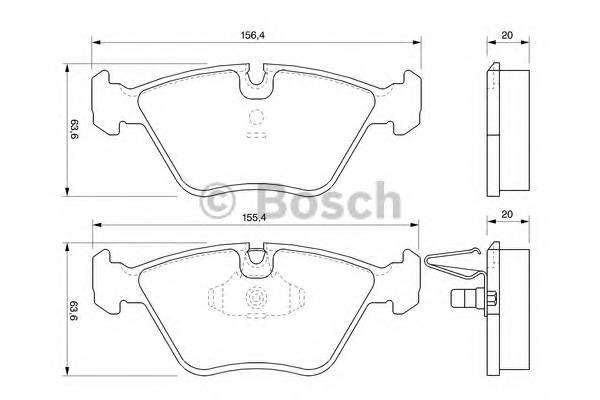 Тормозные колодки Тормозные колодки Bosch PAGID арт. 0986424767