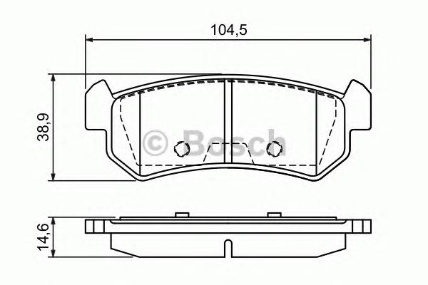 Тормозные колодки Тормозные колодки Bosch PAGID арт. 0986494133
