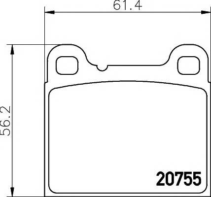 Тормозные колодки Тормозные колодки дисковые TEXTAR арт. 2075506
