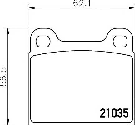 Тормозные колодки Тормозные колодки дисковые PAGID арт. 2103501