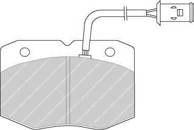 Тормозные колодки Тормозные колодки дисковые ABE арт. FVR713