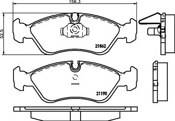 Тормозные колодки Тормозные колодки передние LANOS 1.6 TEXTAR PAGID арт. 2186201