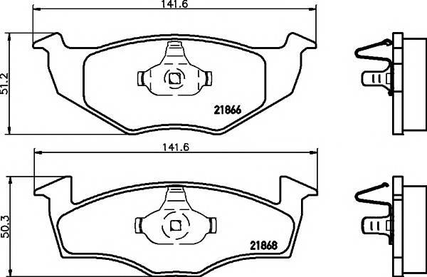 Тормозные колодки Тормозные колодки дисковые TEXTAR PAGID арт. 2186602