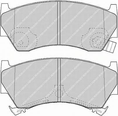 Тормозные колодки Тормозные колодки дисковые PAGID арт. FDB1103