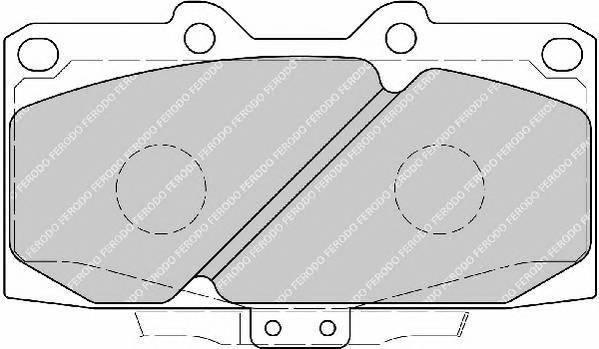Тормозные колодки Тормозные колодки дисковые PAGID арт. FDB1433