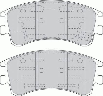Гальмівні колодки, дискові ABE арт. FDB1619
