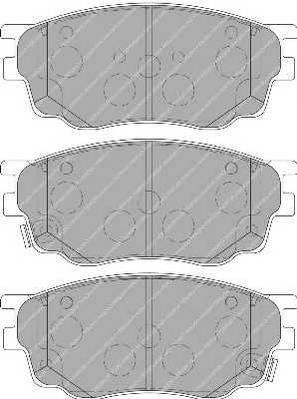 Тормозные колодки Тормозные колодки Ferodo PAGID арт. FDB1707