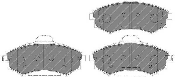 Тормозные колодки Тормозные колодки дисковые PAGID арт. FDB1737