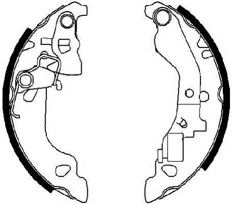 Тормозные колодки Тормозные колодки барабанные Ferodo ABE арт. FSB602