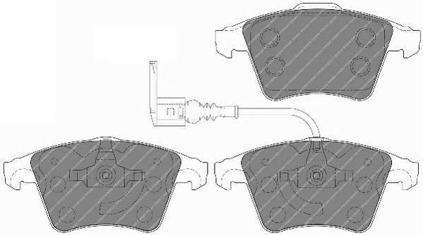 Тормозные колодки Тормозные колодки дисковые PAGID арт. FVR1642