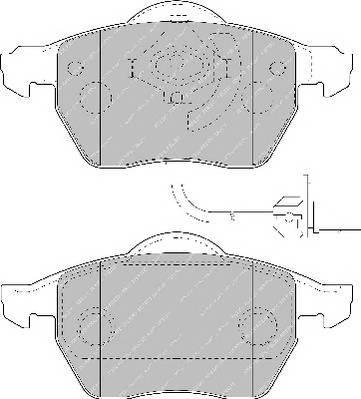 Тормозные колодки Тормозные колодки Ferodo PAGID арт. FSL1717