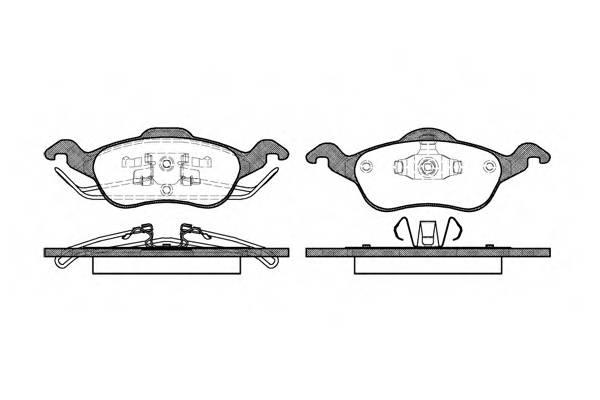 Тормозная система Гальмiвнi колодки, к-кт. PAGID арт. 269100