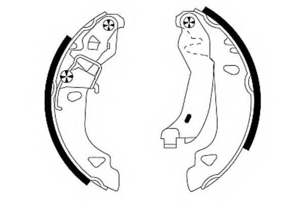 Тормозные колодки 180X32 Тормозные колодки PAGID арт. H8805