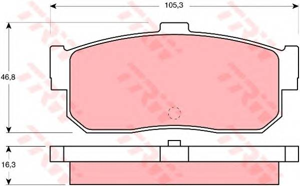 Тормозные колодки Тормозные колодки дисковые PAGID арт. GDB1172