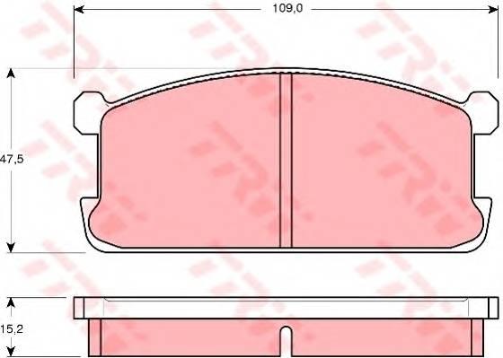 Тормозные колодки Тормозные колодки дисковые PAGID арт. GDB194
