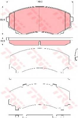 Тормозные колодки Тормозные колодки дисковые PAGID арт. GDB3326