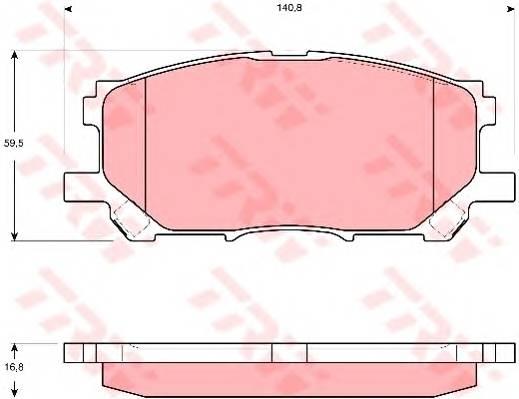 Тормозные колодки Тормозные колодки дисковые ABE арт. GDB3397