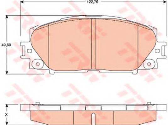 Тормозные колодки Тормозные колодки дисковые ABE арт. GDB3459