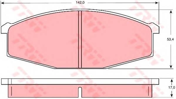 Тормозные колодки Тормозные колодки дисковые PAGID арт. GDB747